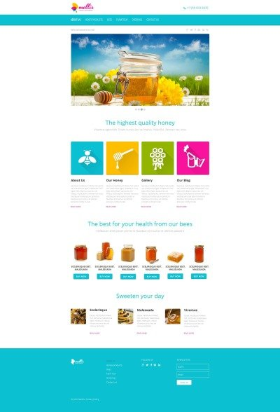 Honey Store MotoCMS HTML шаблон