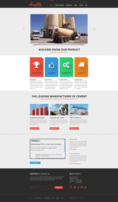 MotoCMS HTML шаблон №47381 на тему цементная продукция
