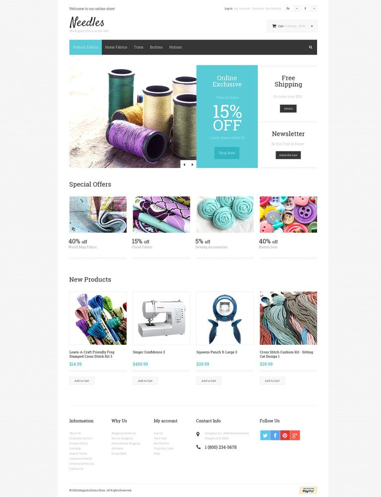 Needles Magento Theme New Screenshots BIG