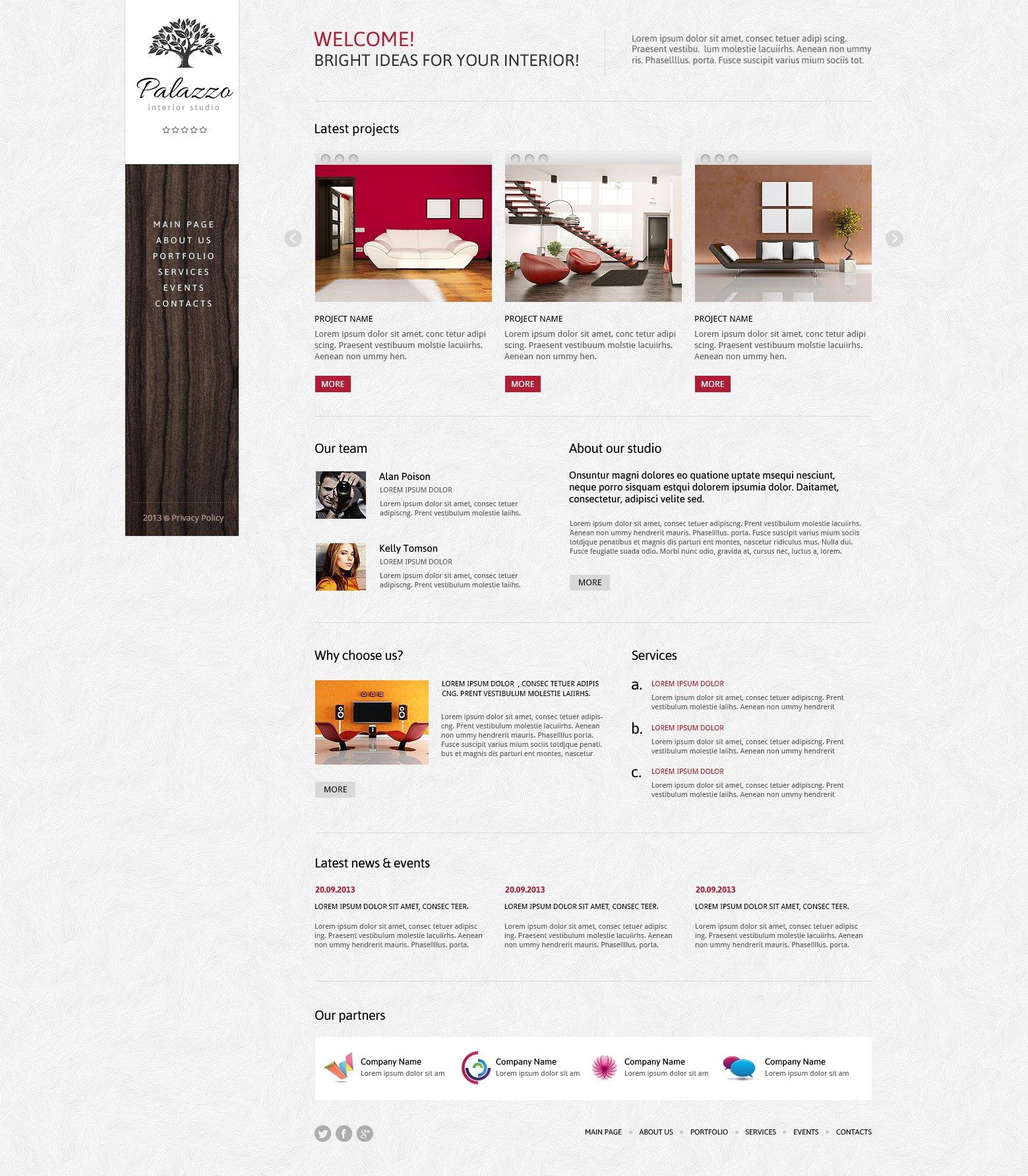 outstanding interior website. Outstanding Interior Design Joomla Template  47347