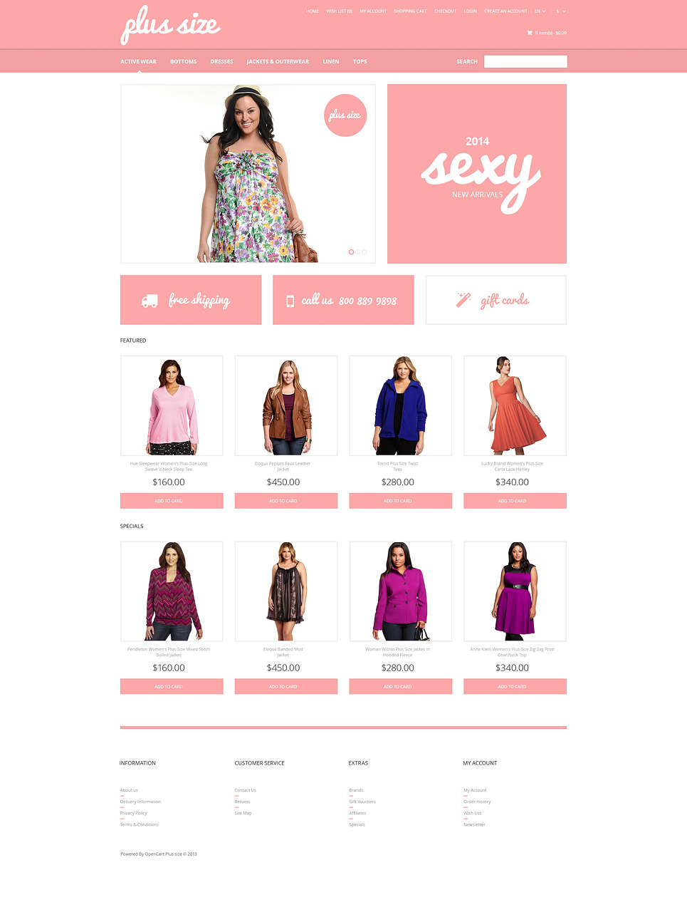 Plus Size Clothes OpenCart Template New Screenshots BIG