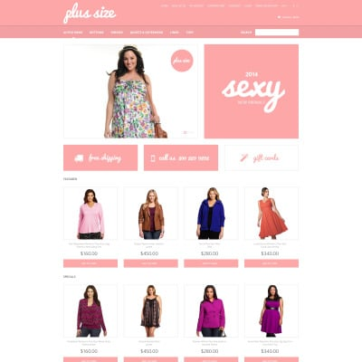Plus size clothes opencart template 47312 fashion store responsive opencart template pronofoot35fo Choice Image