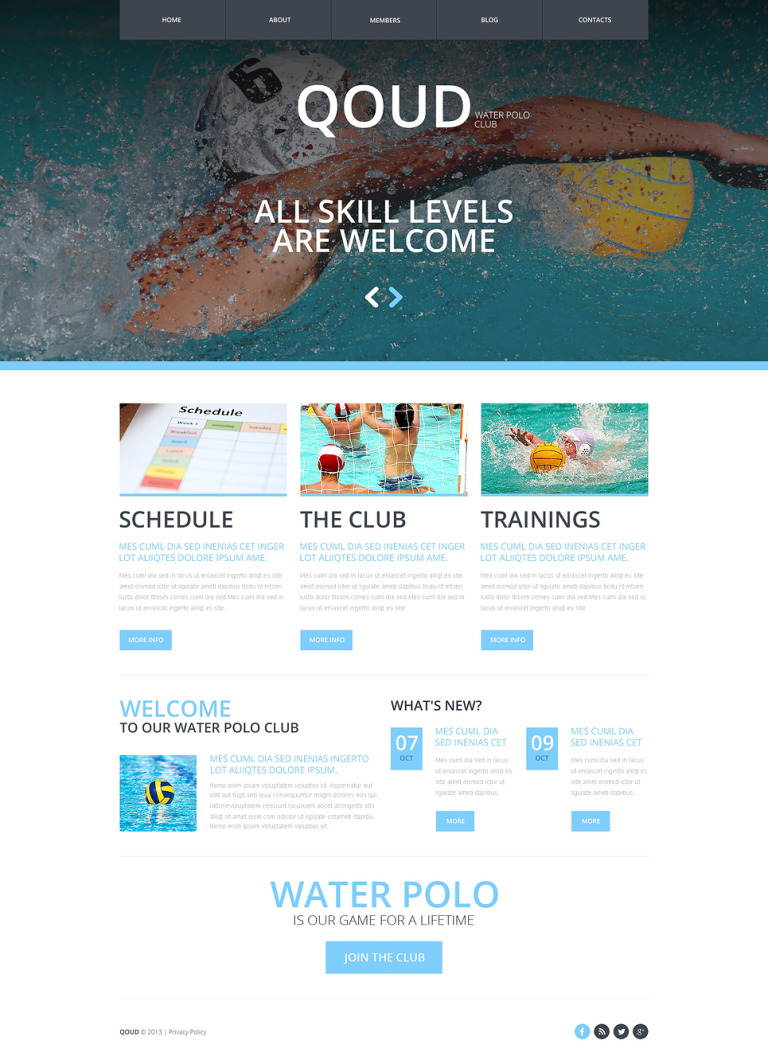 Polo Responsive Website Template New Screenshots BIG