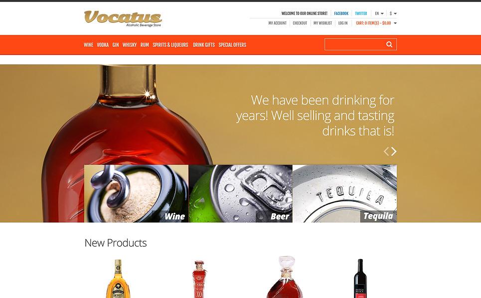 Responsives Magento Theme für Essen und Trinken  New Screenshots BIG