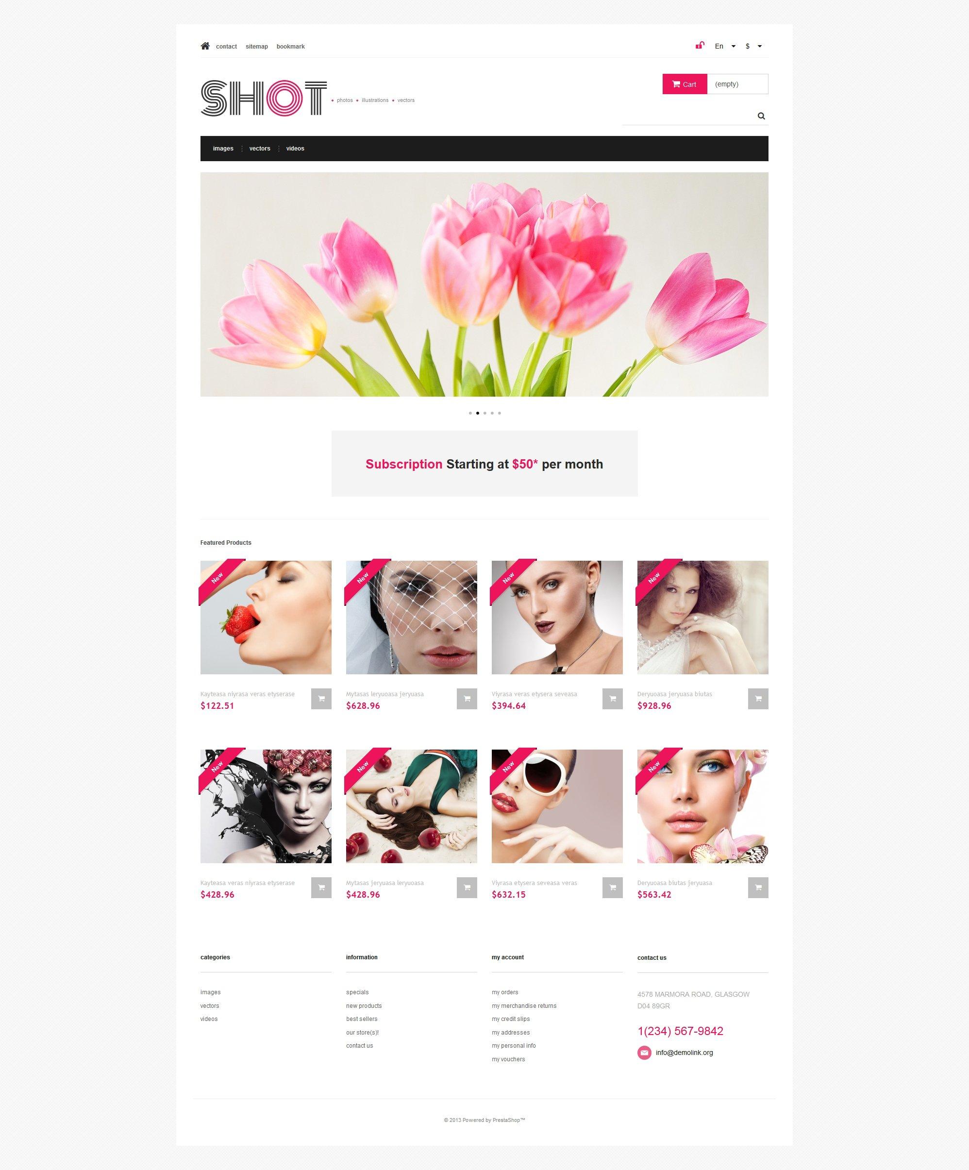 Responsivt Visual Content PrestaShop-tema #47317 - skärmbild