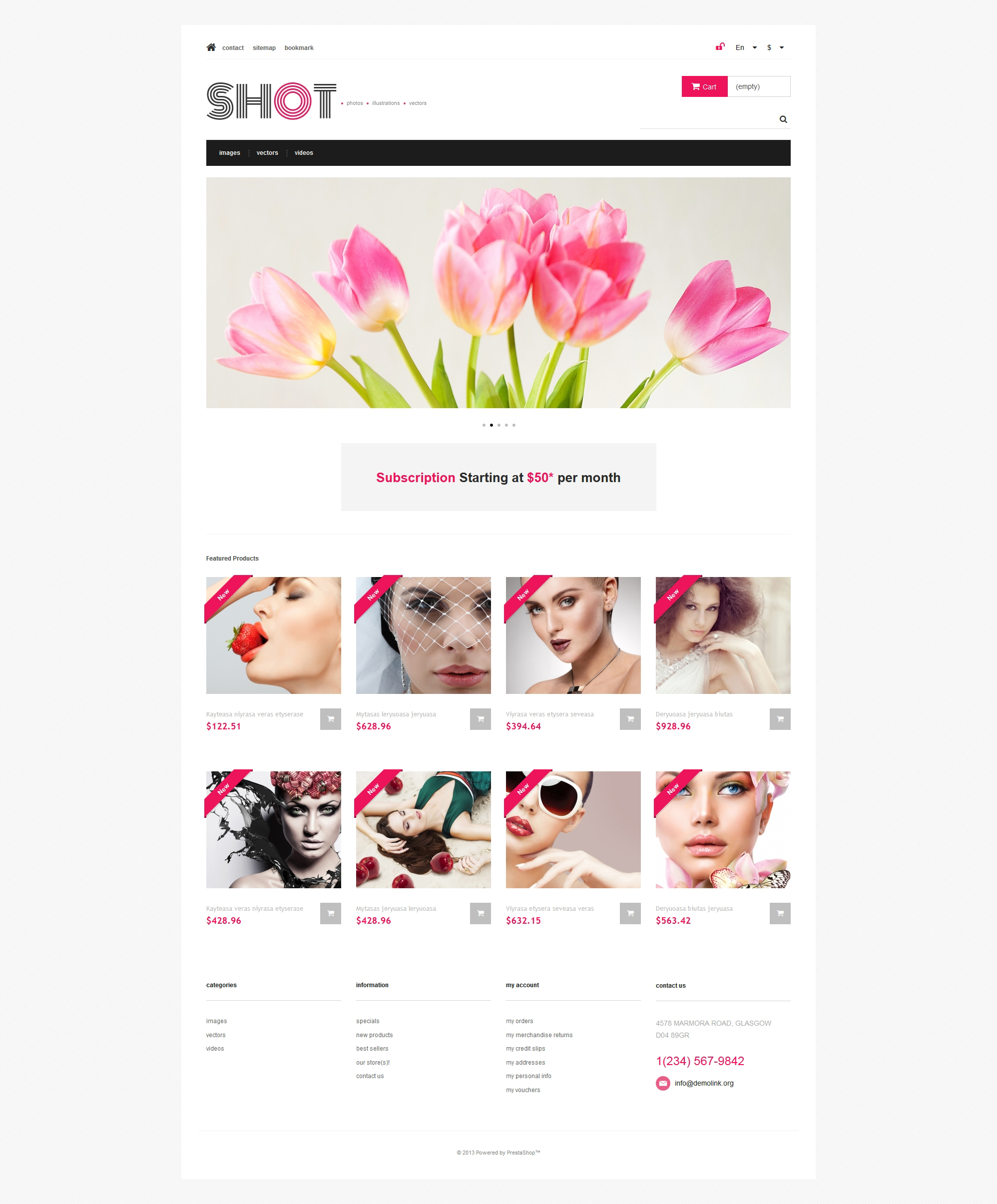 Responsywny szablon PrestaShop Visual Content #47317 - zrzut ekranu