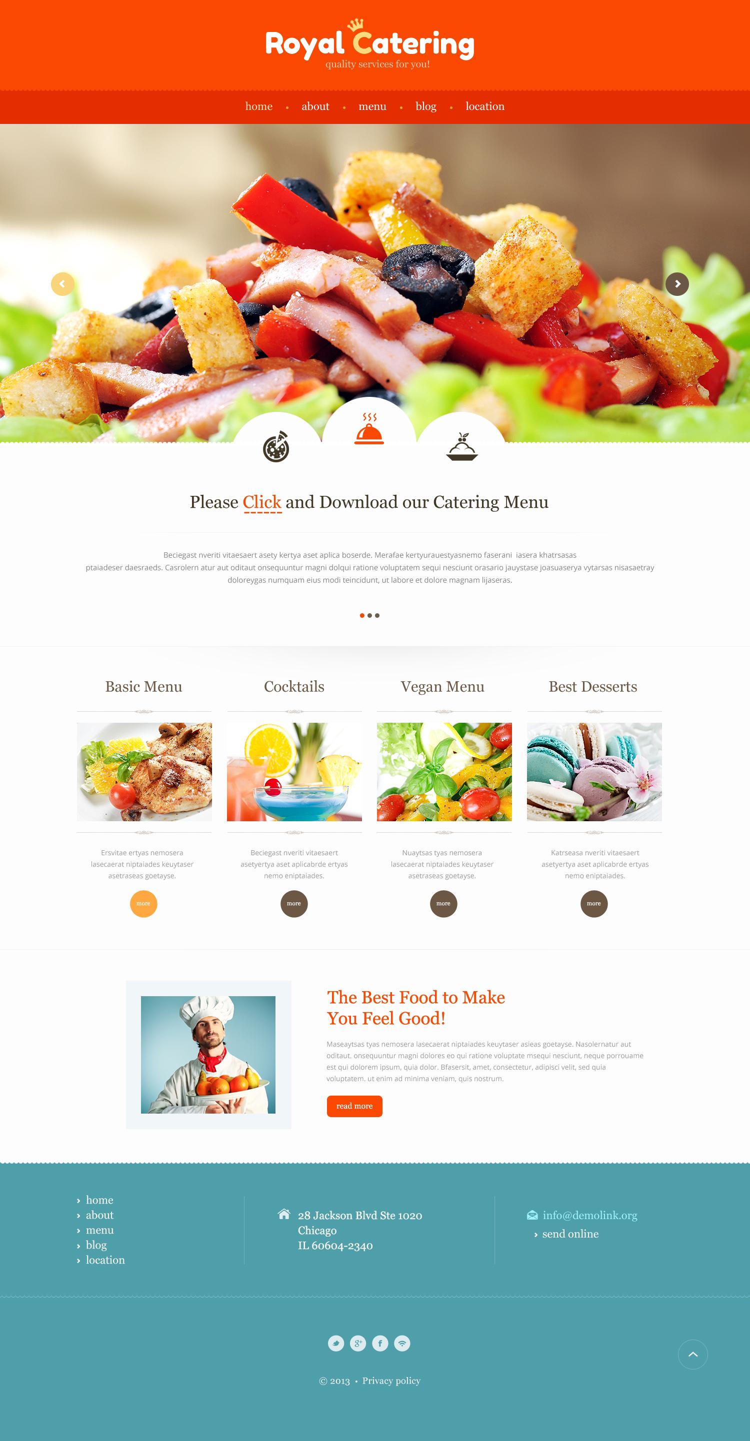 Responzivní Šablona webových stránek na téma Catering Templates #47307