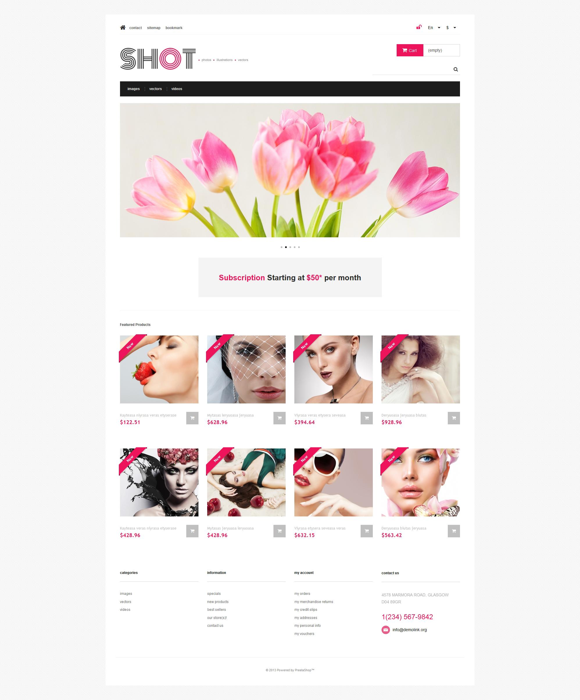 Reszponzív Visual Content PrestaShop sablon 47317 - képernyőkép