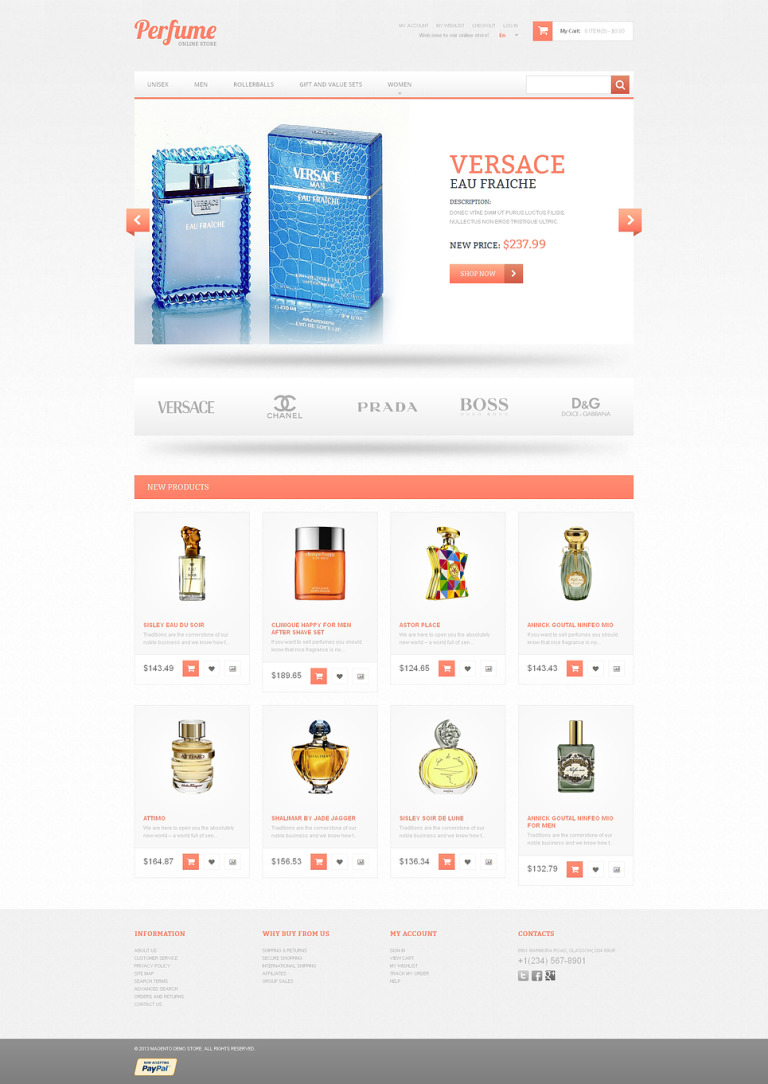 Subtle Fragrance Magento Theme New Screenshots BIG