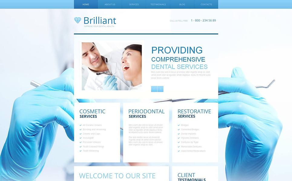 Szablon Moto CMS HTML #47382 na temat: stomatologia New Screenshots BIG