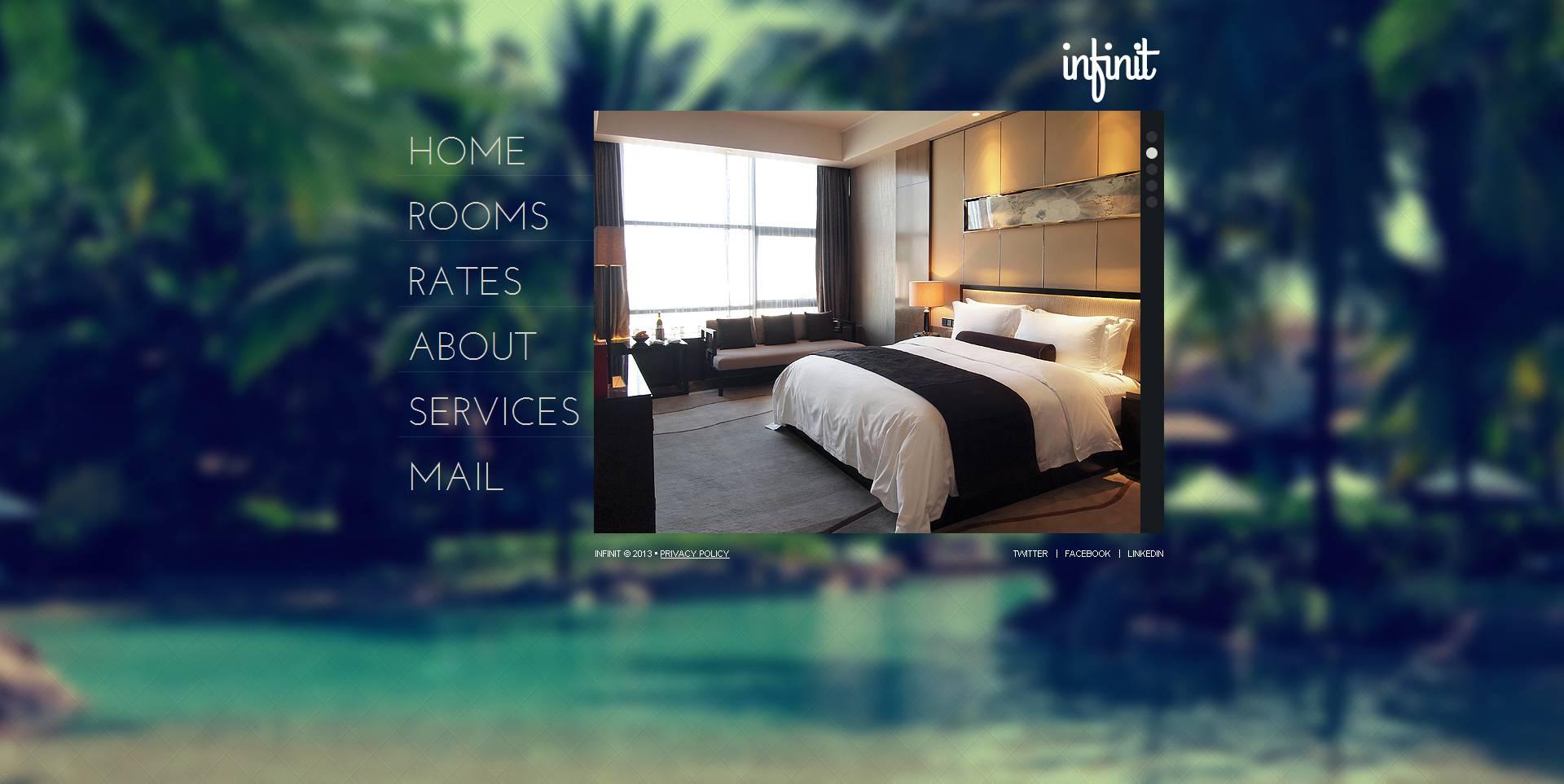 Template Moto CMS HTML #47386 per Un Sito di Hotel