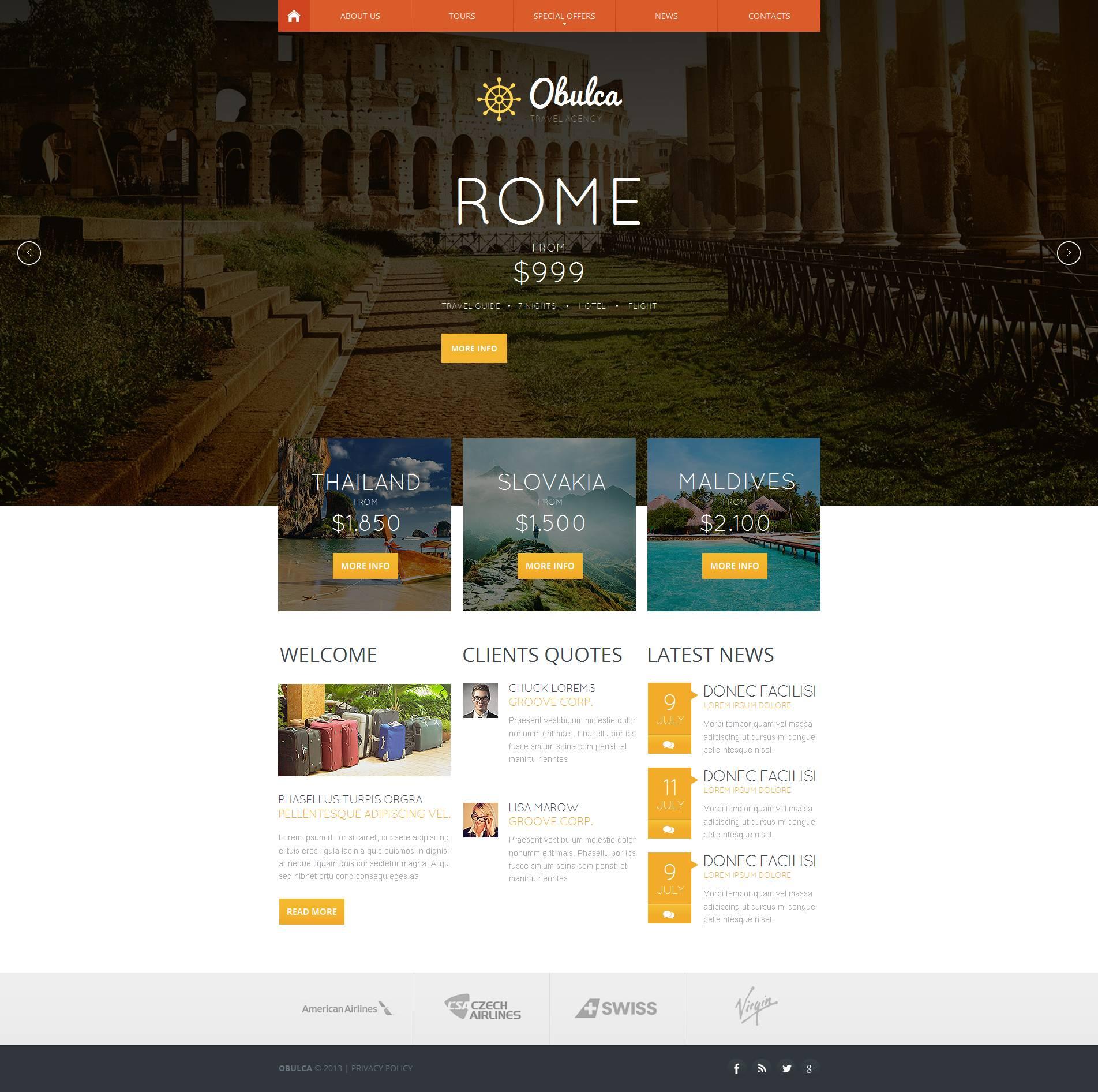 Travel Agency Moto CMS HTML Template