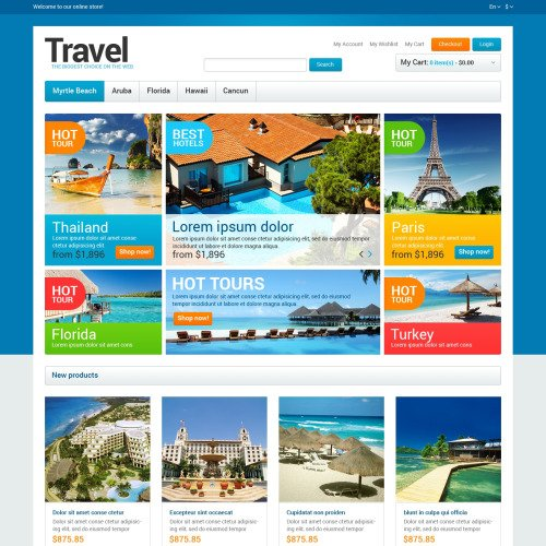 Travel  - Responsive Magento Template
