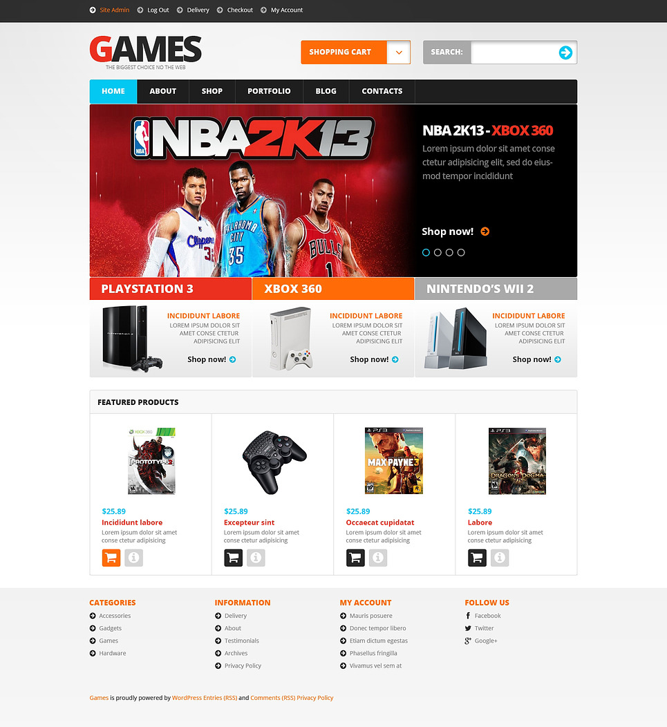 Video Games WooCommerce Theme New Screenshots BIG
