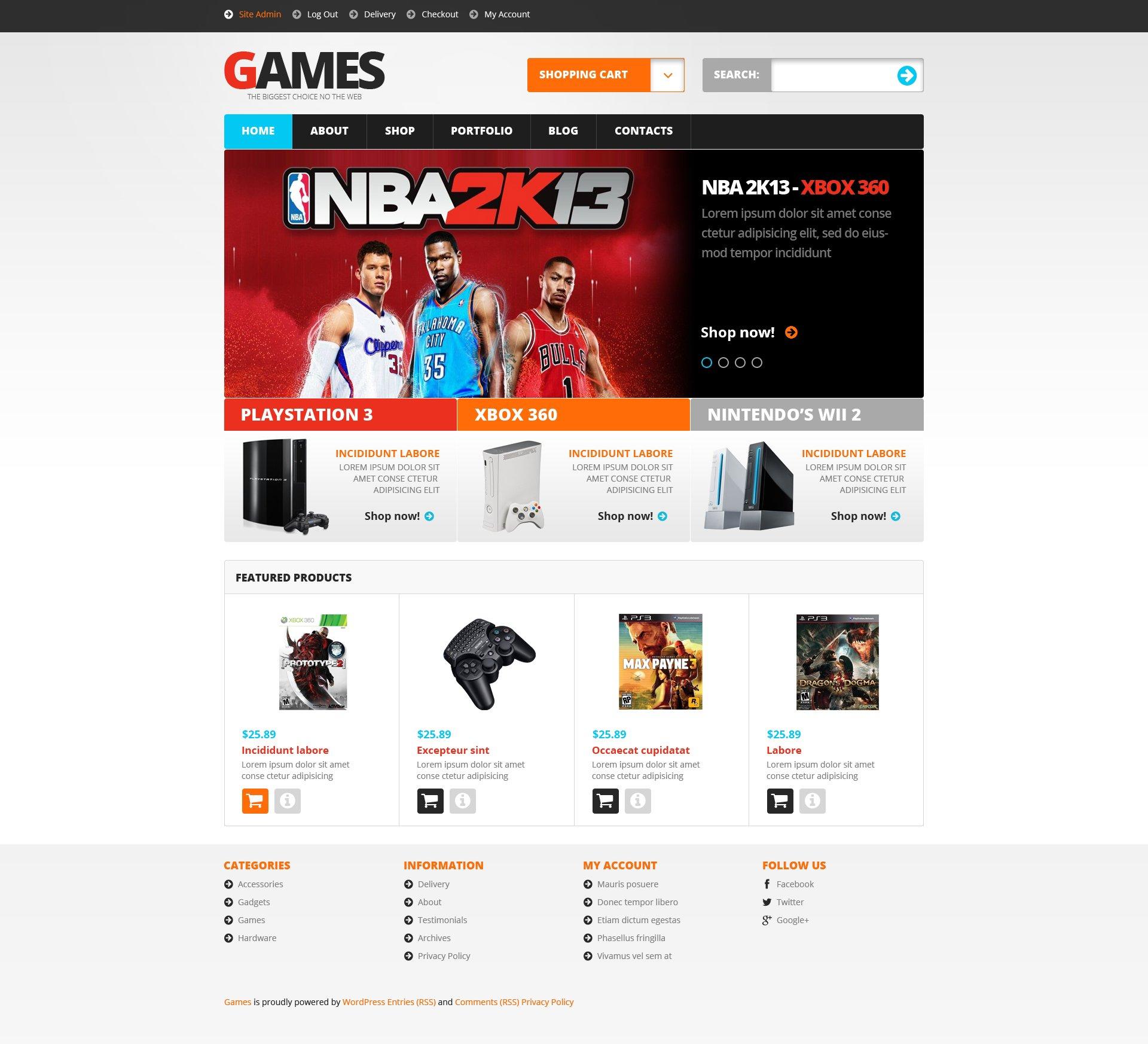 Video Games WooCommerce Theme - screenshot