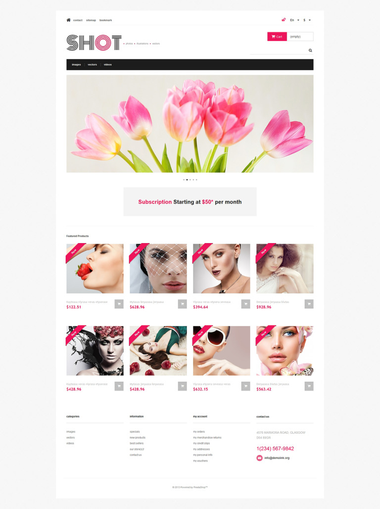 Visual Content PrestaShop Theme New Screenshots BIG