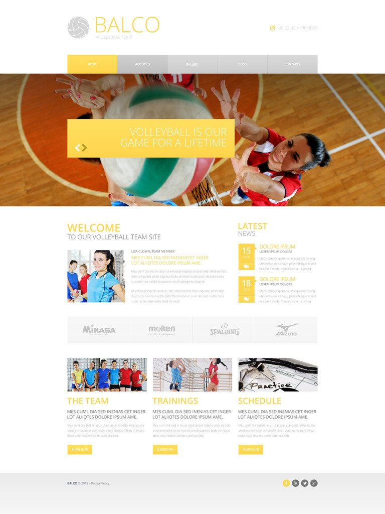 Volleyball Responsive Website Template New Screenshots BIG