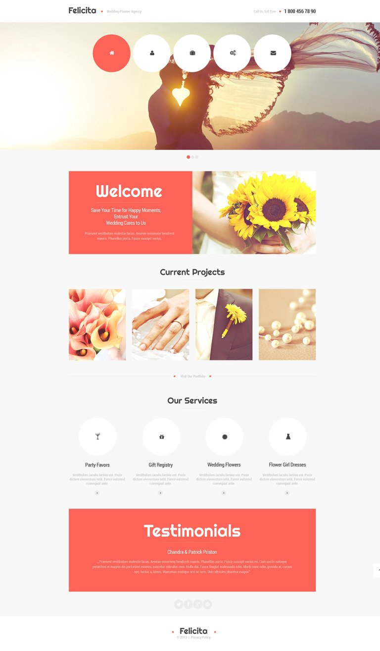 Wedding Planner Responsive Website Template New Screenshots BIG