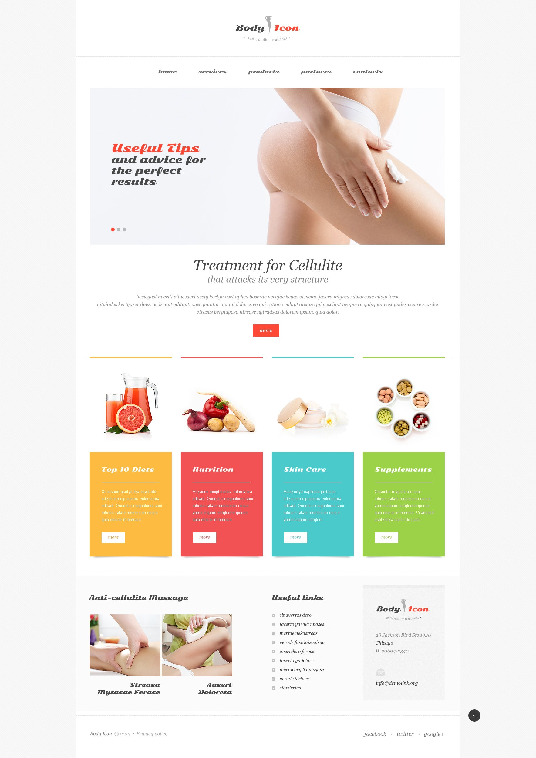 weight loss responsive website template 47337