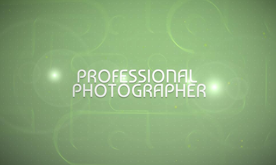 Заставка After Effects на тему портфоліо фотографа  New Screenshots BIG