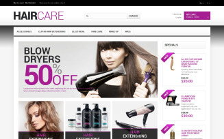 Hairdresser's Stuff Magento Theme