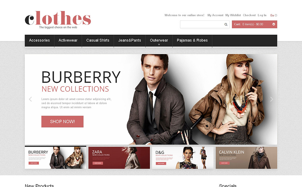 Responsives Magento Theme für Mode-Shop  New Screenshots BIG
