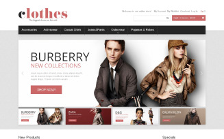 Clothes for Any Weather Magento Theme