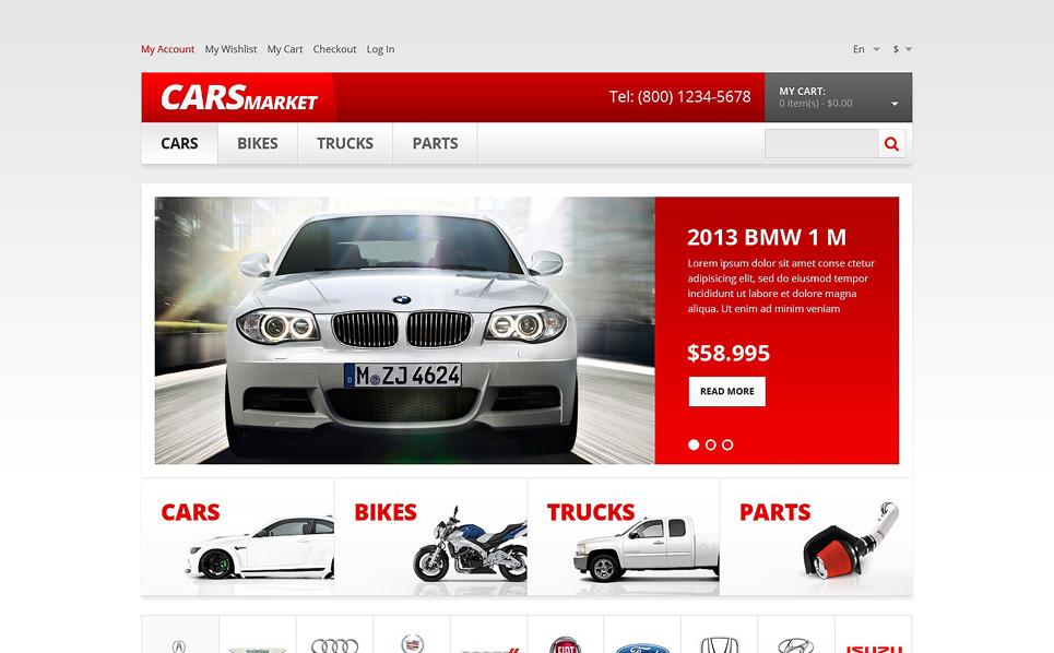 Responsive Magento Thema over Autohandelaar New Screenshots BIG