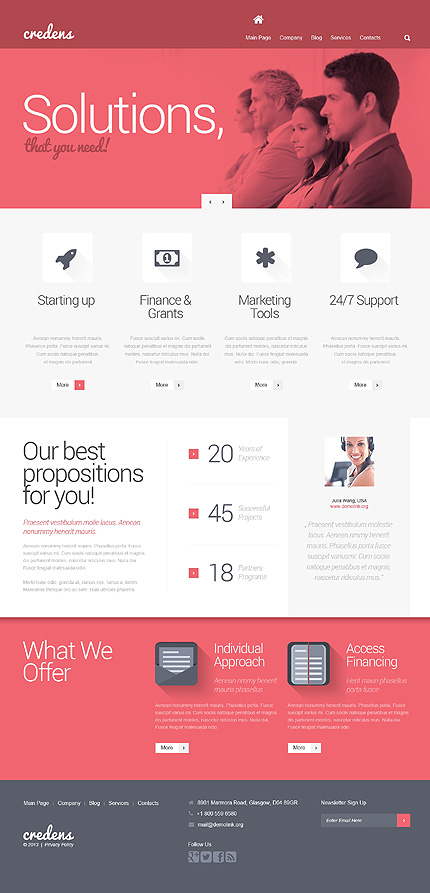 WordPress Theme/Template 47406 Main Page Screenshot