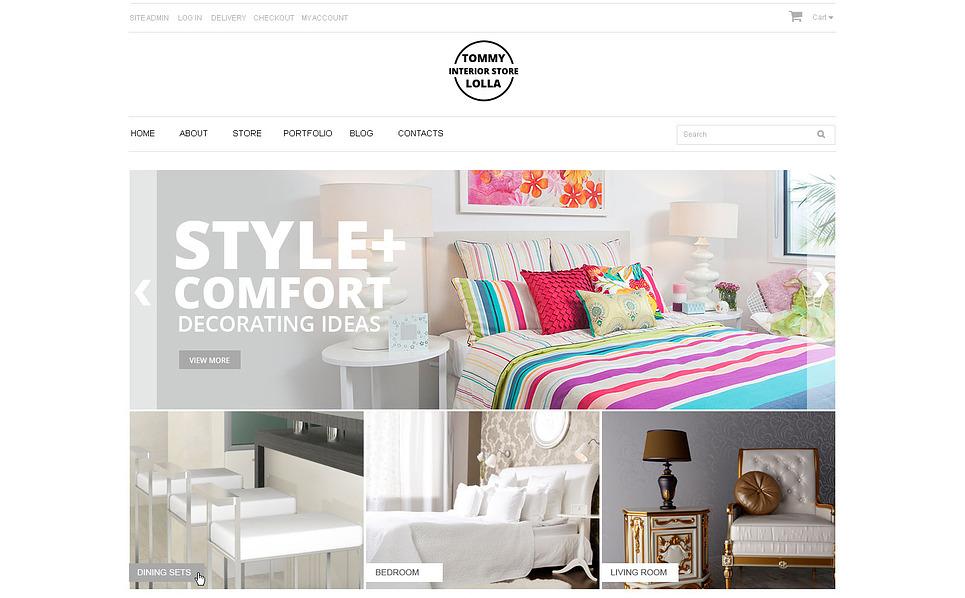 Responsive WooCommercie Thema over Interieur-design  New Screenshots BIG