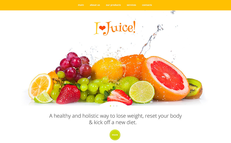 Адаптивний Шаблон сайту на тему їжа та напої New Screenshots BIG