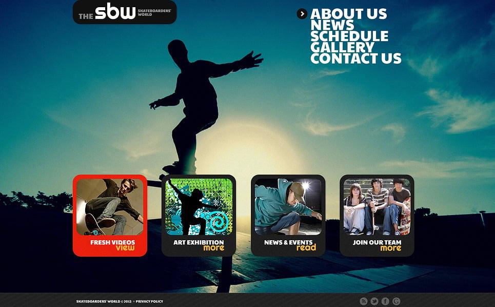 Tema Siti Web Bootstrap #47424 per Un Sito di Pattinaggio New Screenshots BIG