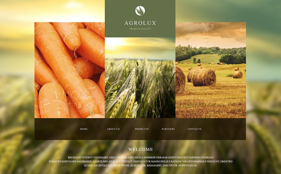 Responsywny szablon strony www #47428 na temat: gospodarstwo rolne New Screenshots BIG