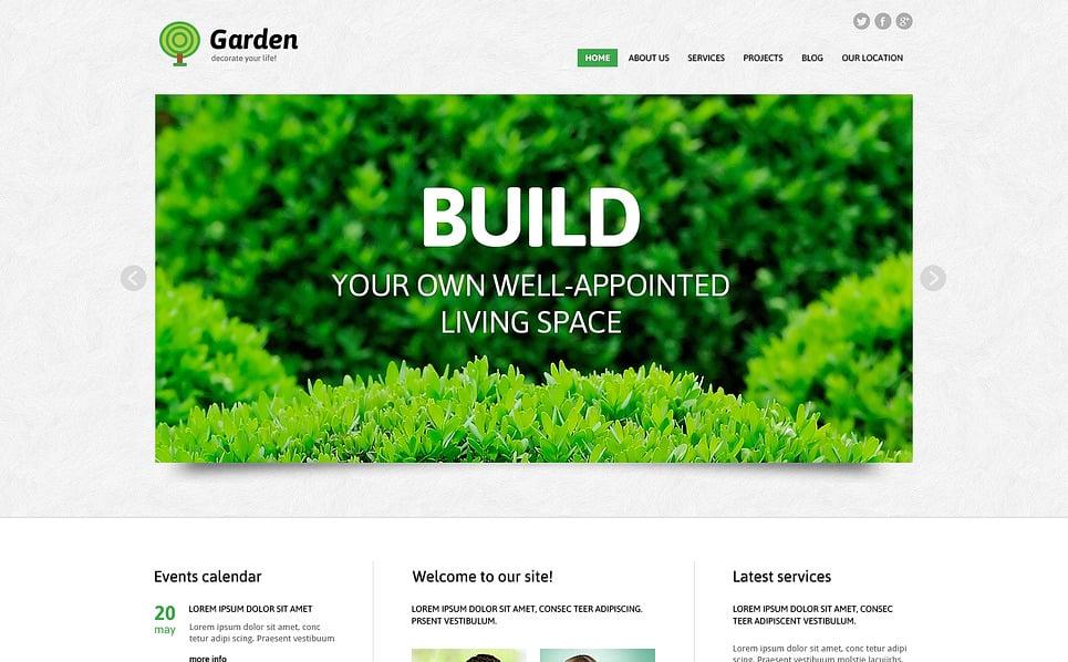 Адаптивний Joomla шаблон на тему дизайн саду New Screenshots BIG