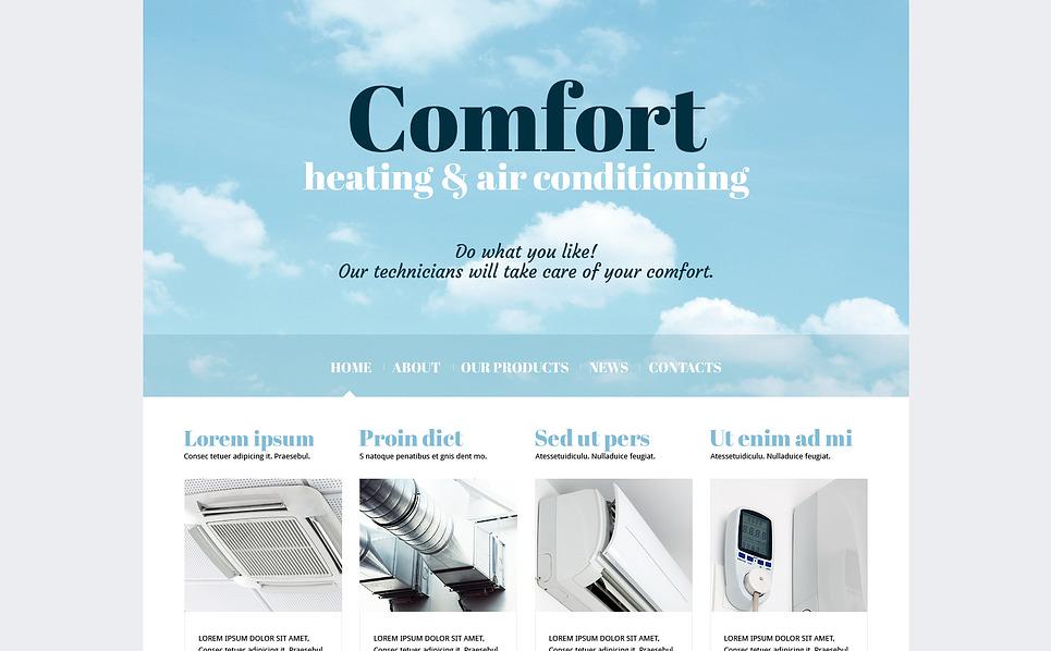 Responsive Joomla Template over Airconditioning  New Screenshots BIG