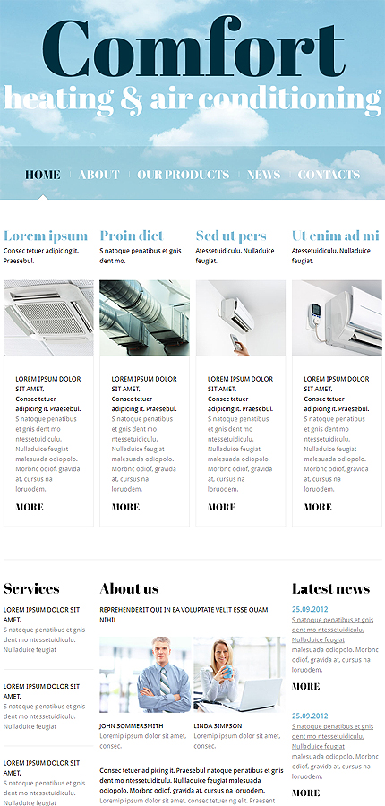 Joomla Theme/Template 47433 Main Page Screenshot