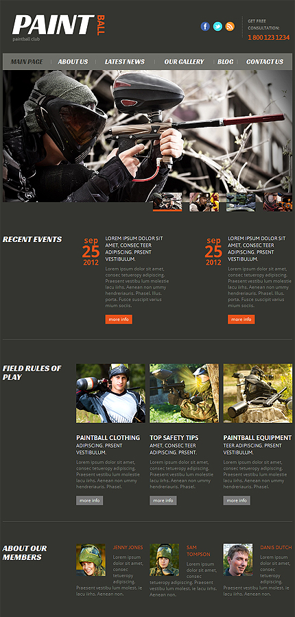 Joomla Theme/Template 47437 Main Page Screenshot