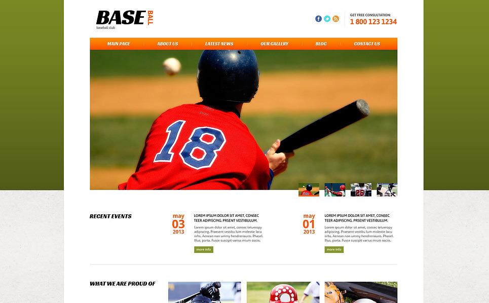 Responsive Joomla Vorlage für Baseball  New Screenshots BIG