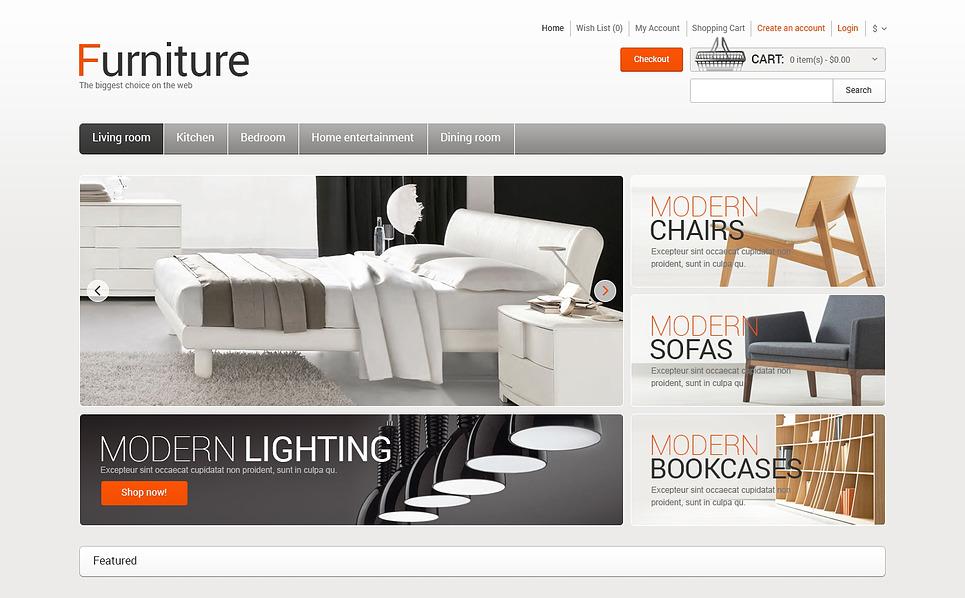 Responsive OpenCart Vorlage für Möbel  New Screenshots BIG