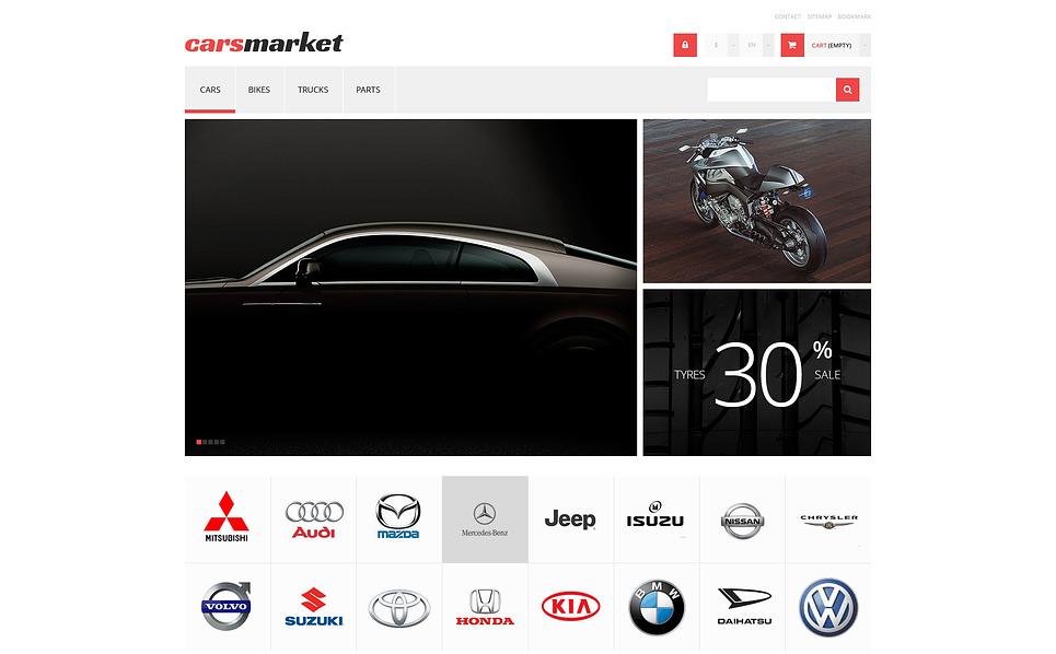 Responzivní PrestaShop motiv na téma Autoprodejce New Screenshots BIG