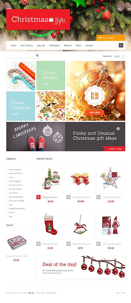 ZenCart Template 47453 Main Page Screenshot