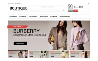 Clothes Boutique Magento Theme