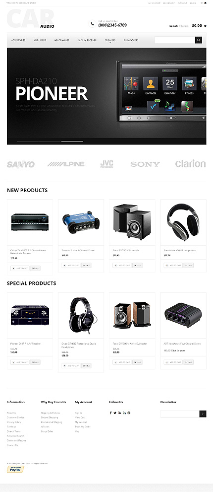 Magento Theme/Template 47456 Main Page Screenshot