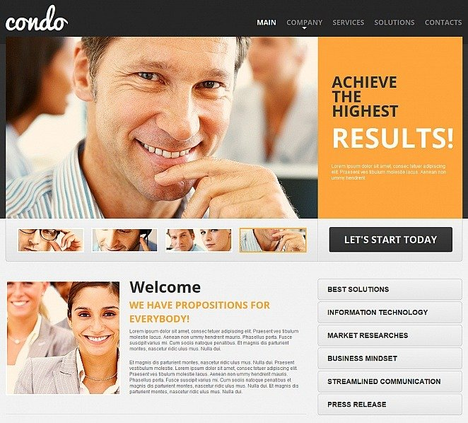 Template Moto CMS HTML para Sites de Agencia de marketing №47460 New Screenshots BIG