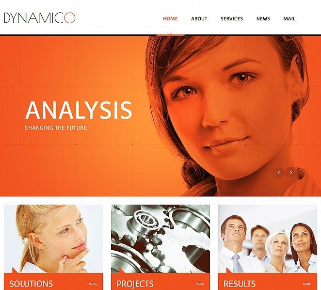 Luxusní Moto CMS HTML šablona na téma Marketingová agentura New Screenshots BIG