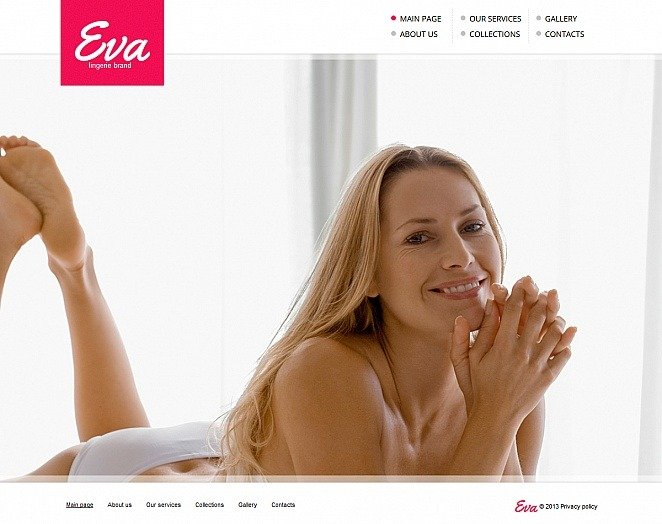 Premium Moto CMS HTML Template over Lingerie  New Screenshots BIG
