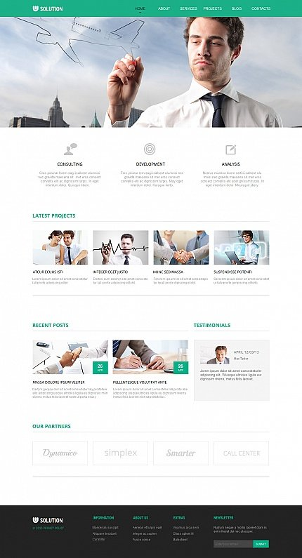 ADOBE Photoshop Template 47467 Home Page Screenshot