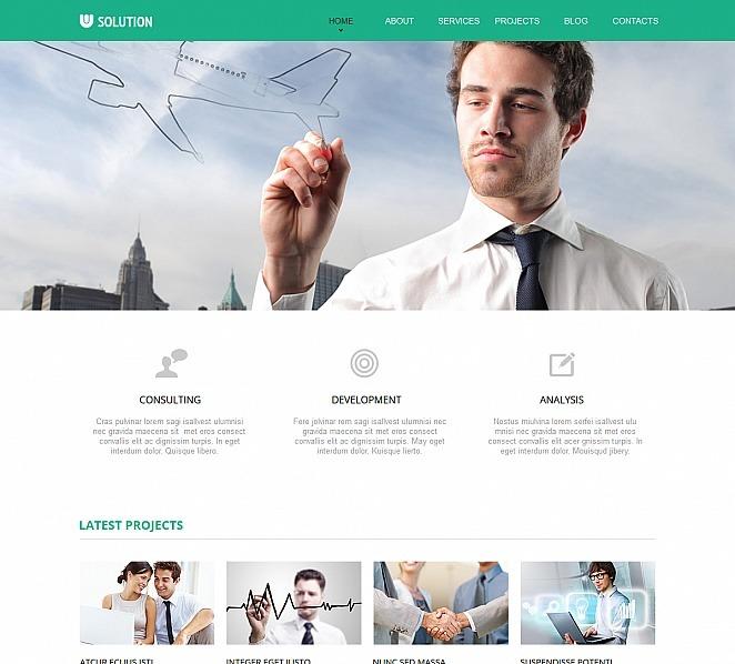Plantilla Moto CMS HTML #47467 para Sitio de Servicios comerciales New Screenshots BIG