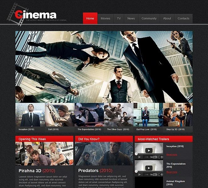 MotoCMS HTML шаблон на тему кіно New Screenshots BIG