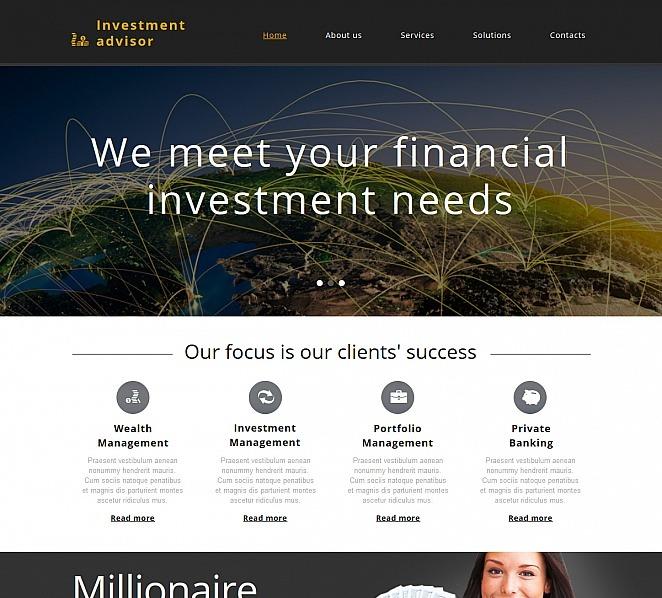 Premium Moto CMS HTML Template over Investeringsmaatschappij  New Screenshots BIG